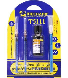 ست ابزار و حلال چسب درب پشت آیفون مدل MECHANIC 5111
