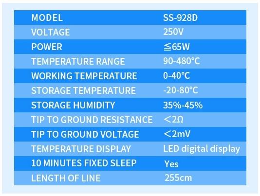SUNSHINE SS-928D info